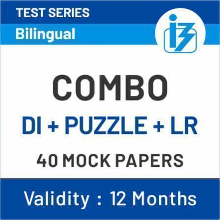 Mission PO|Clerk 2019 Combo Puzzle+DI+Logical Reasoning