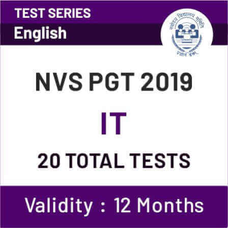 NVS PGT 2019 IT 20 TOTAL TESTS