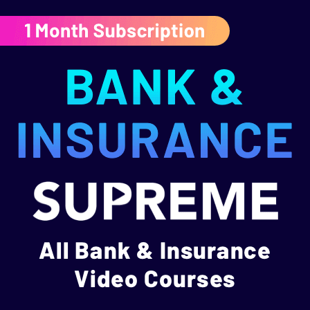 Video courses for Bank & Insurance