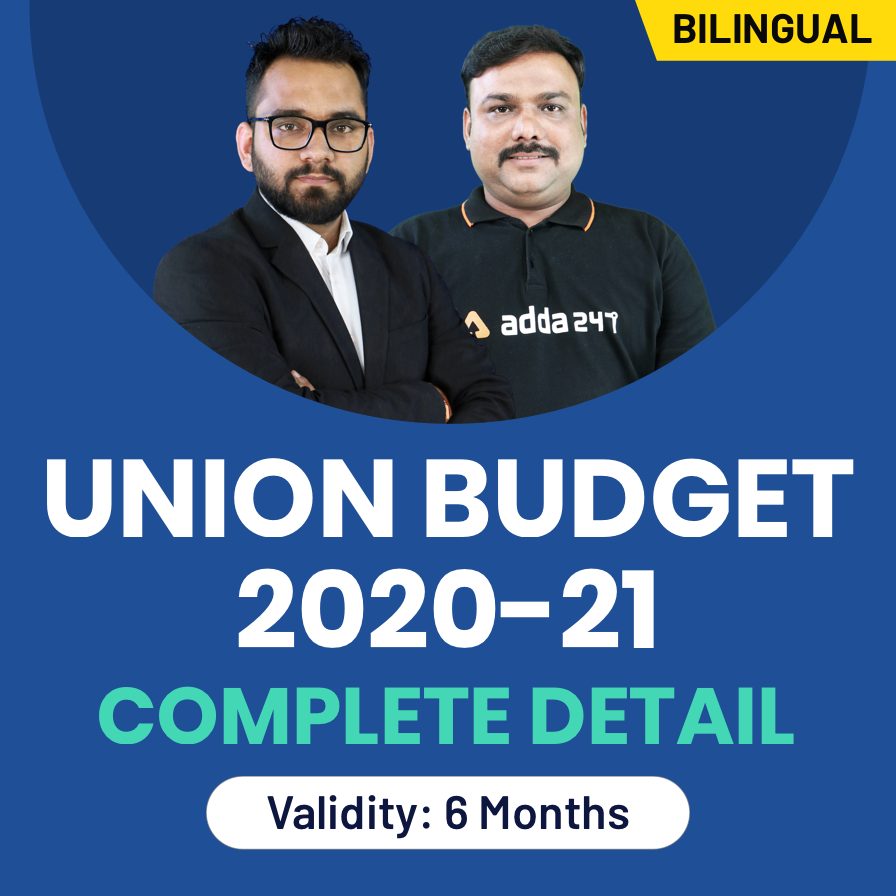 Video courses for Union Budget 2020-21