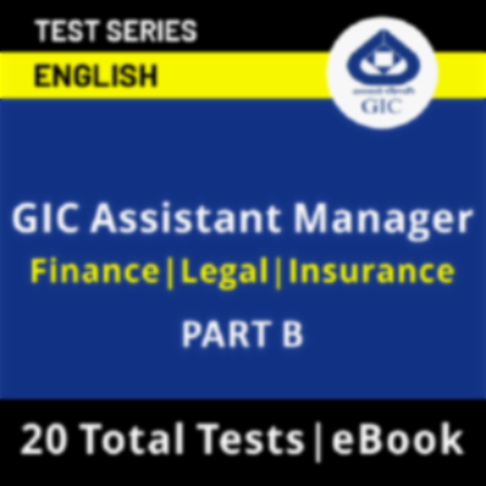 GIC Assistant Manager (Specialists) Scale-I 2021 Online Test Series_50.1