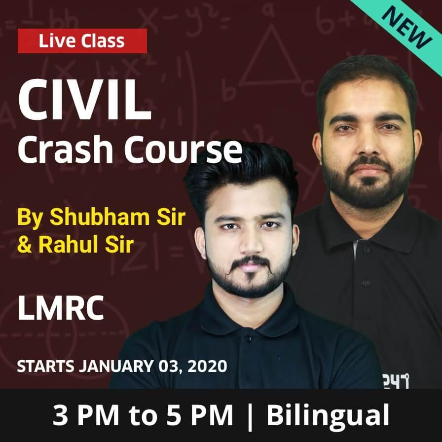 LMRC JE 2019-20 Exam   Crash Course For Civil Engineering_50.1