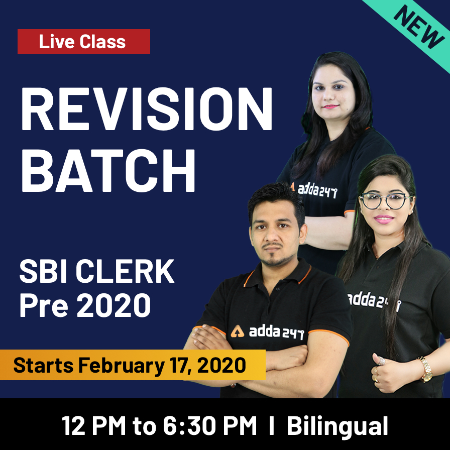 SBI Clerk Preparation Material: Best Test Series and Revision Batch to Crack the 2020 Prelims Exam_60.1