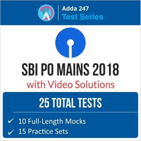 Reasoning Quiz for SBI PO/Clerk Mains:19th July 2018_130.1